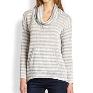 Splendid Antwerp Stripped Cowl Neck Sweater